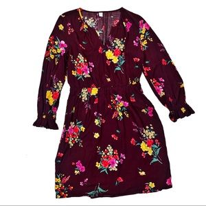 ☕️5/$25 Old Navy Floral Mini Dress in Maroon